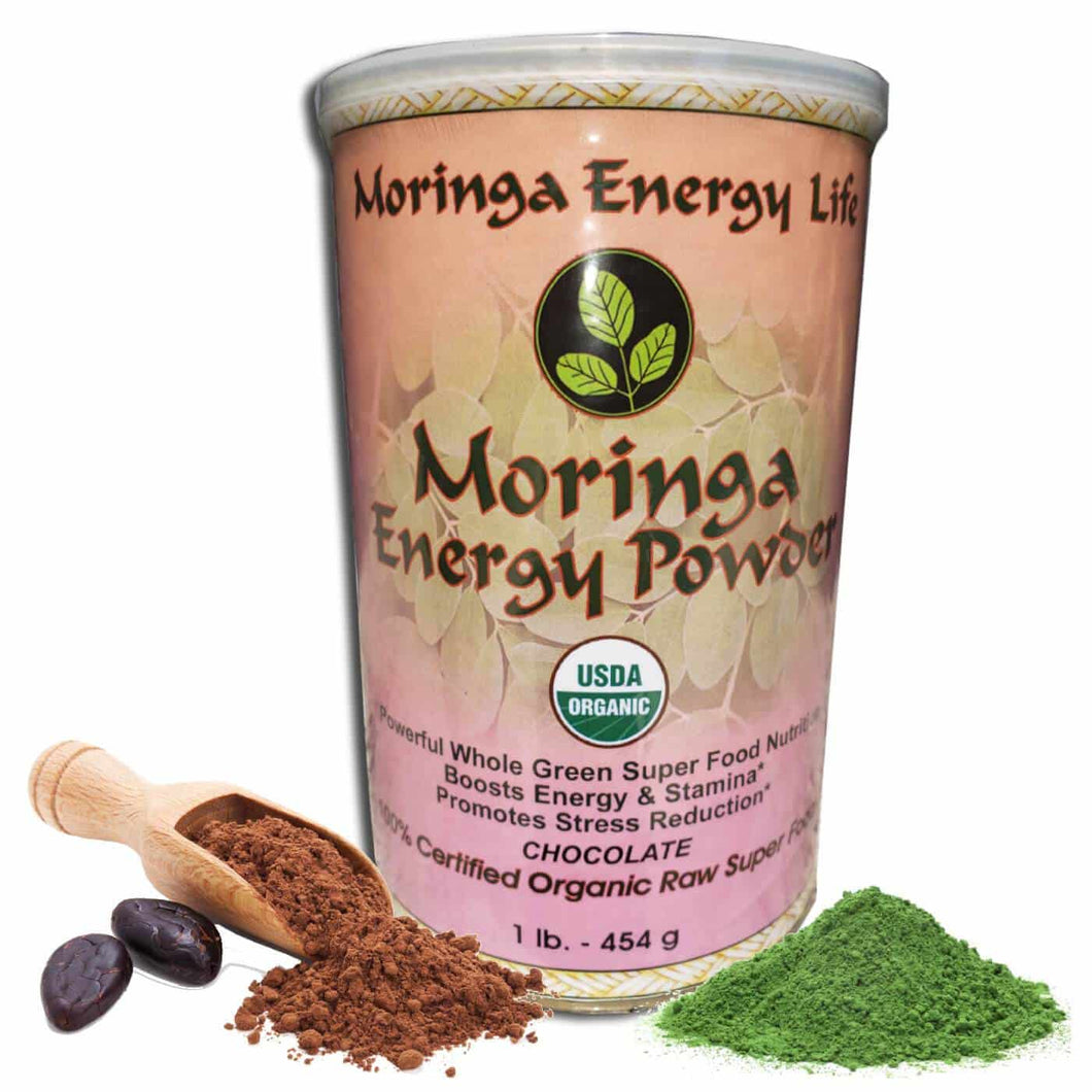 USDA Organic Moringa Energy Powder - Chocolate (1 lb)