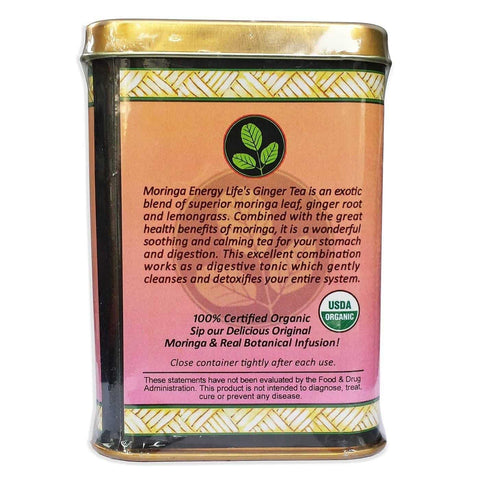 Image of USDA Organic Moringa Ginger Tea