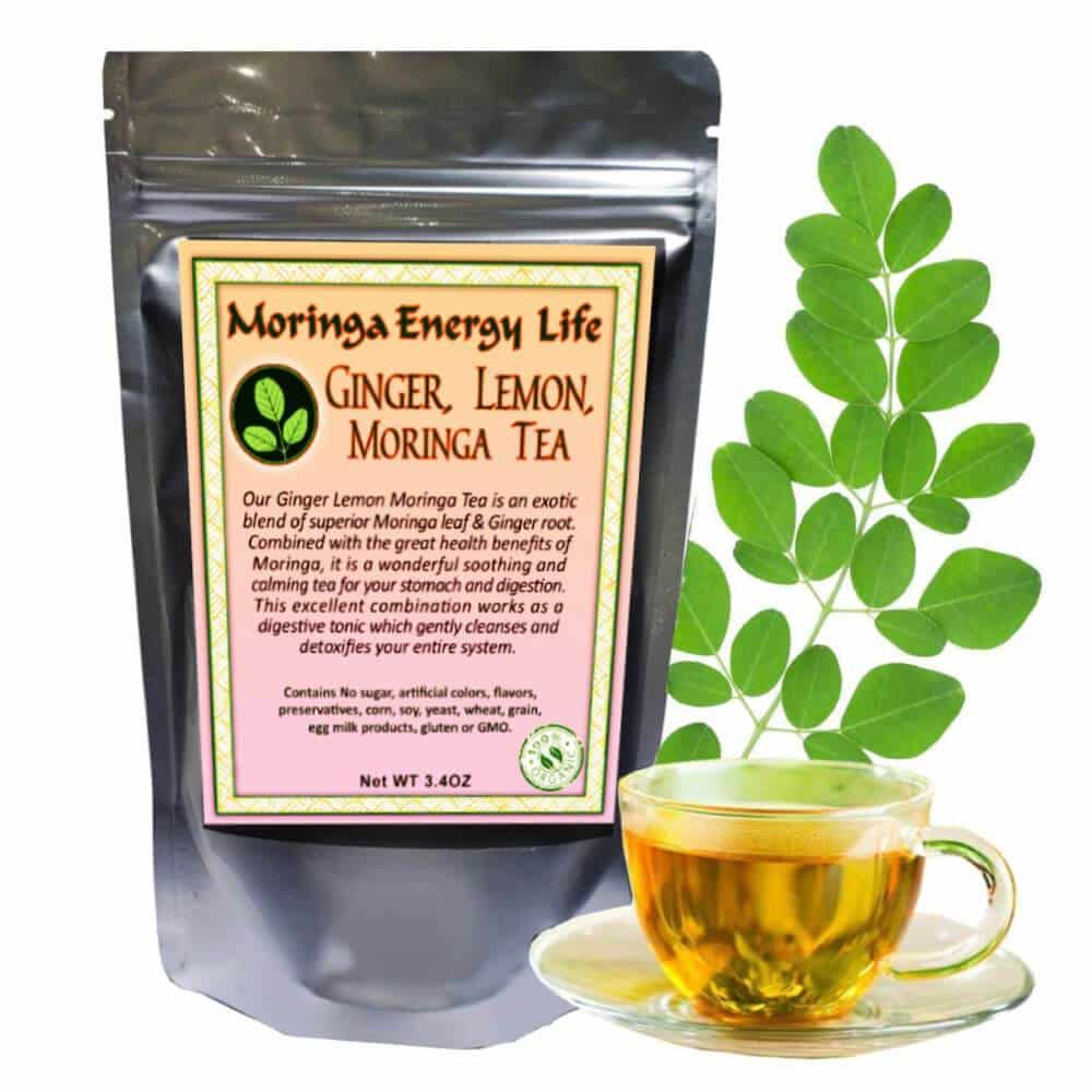 USDA Organic Moringa Ginger & Lemon Tea