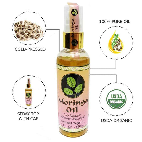 USDA Organic Moringa Oil 3.4 oz.