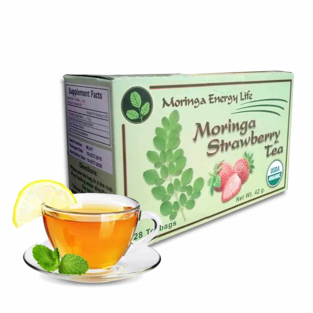 USDA Organic Moringa Strawberry Tea