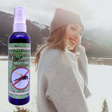 Organic Insect Repellent - Two 4 oz bottles of All Natural Spray for Bugs, Noseeum, Mosquito, Flies, Deep Woods and Outdoors Use, With Essential Oils
