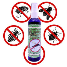 Load image into Gallery viewer, Organic Insect Repellent - Two 4 oz bottles of All Natural Spray for Bugs, Noseeum, Mosquito, Flies, Deep Woods and Outdoors Use, With Essential Oils