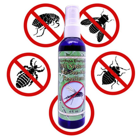 Organic Insect Repellent - All Natural Spray for Bugs, Noseeum, Mosquito, Flies, Deep Woods and Outdoors Use, With Essential Oils, 4 oz.