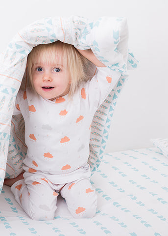 NEW Aztec Cot Bed Duvet Set; Made in UK - Magnus & Mouse