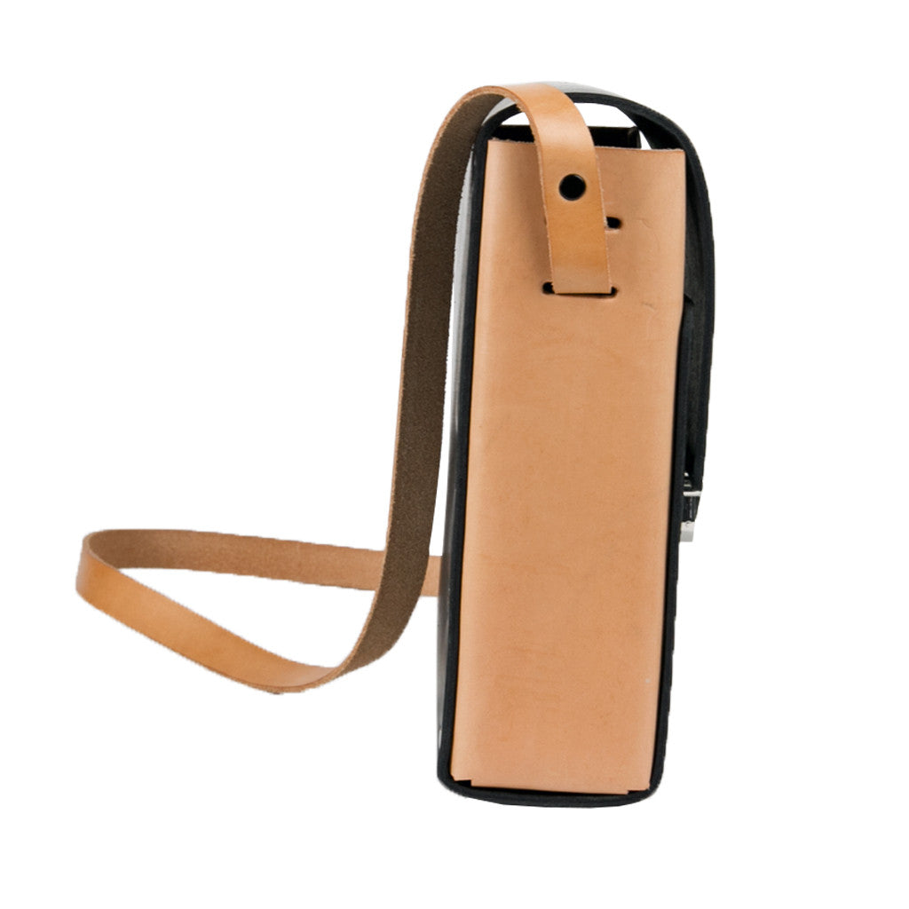 Camera Case black body w/ veg tan sides