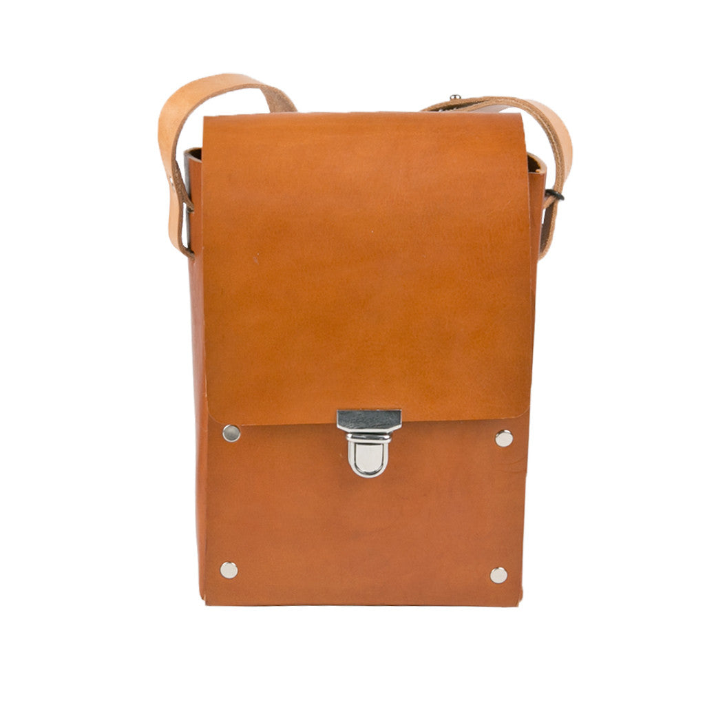 Camera Case tan bridle leather body and sides
