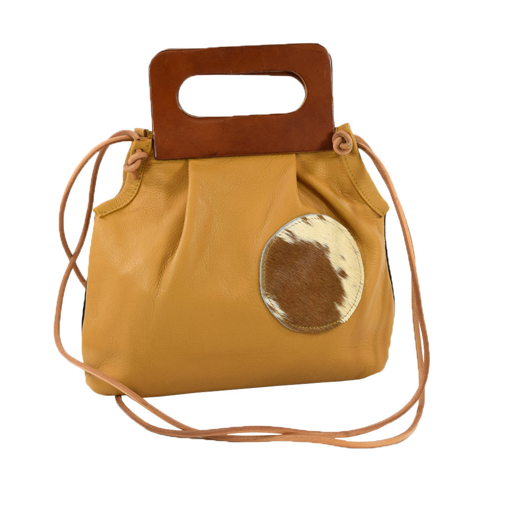Dot Bag caramel w/ cowhide