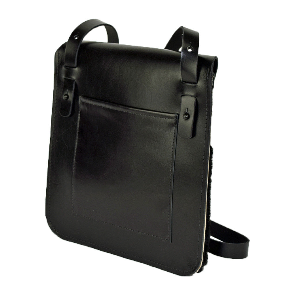 Flap Bag black hair-on