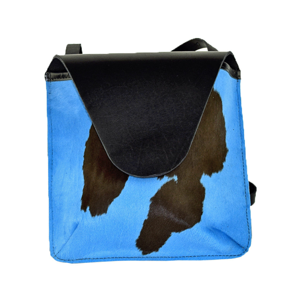 Flap Bag blue hair-on