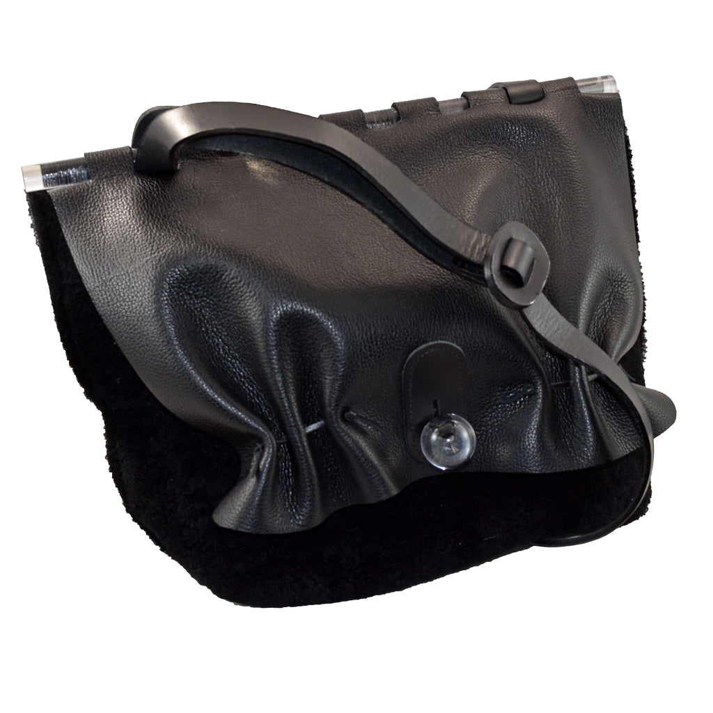 Black Fleece Tote w/ Lucite Ball