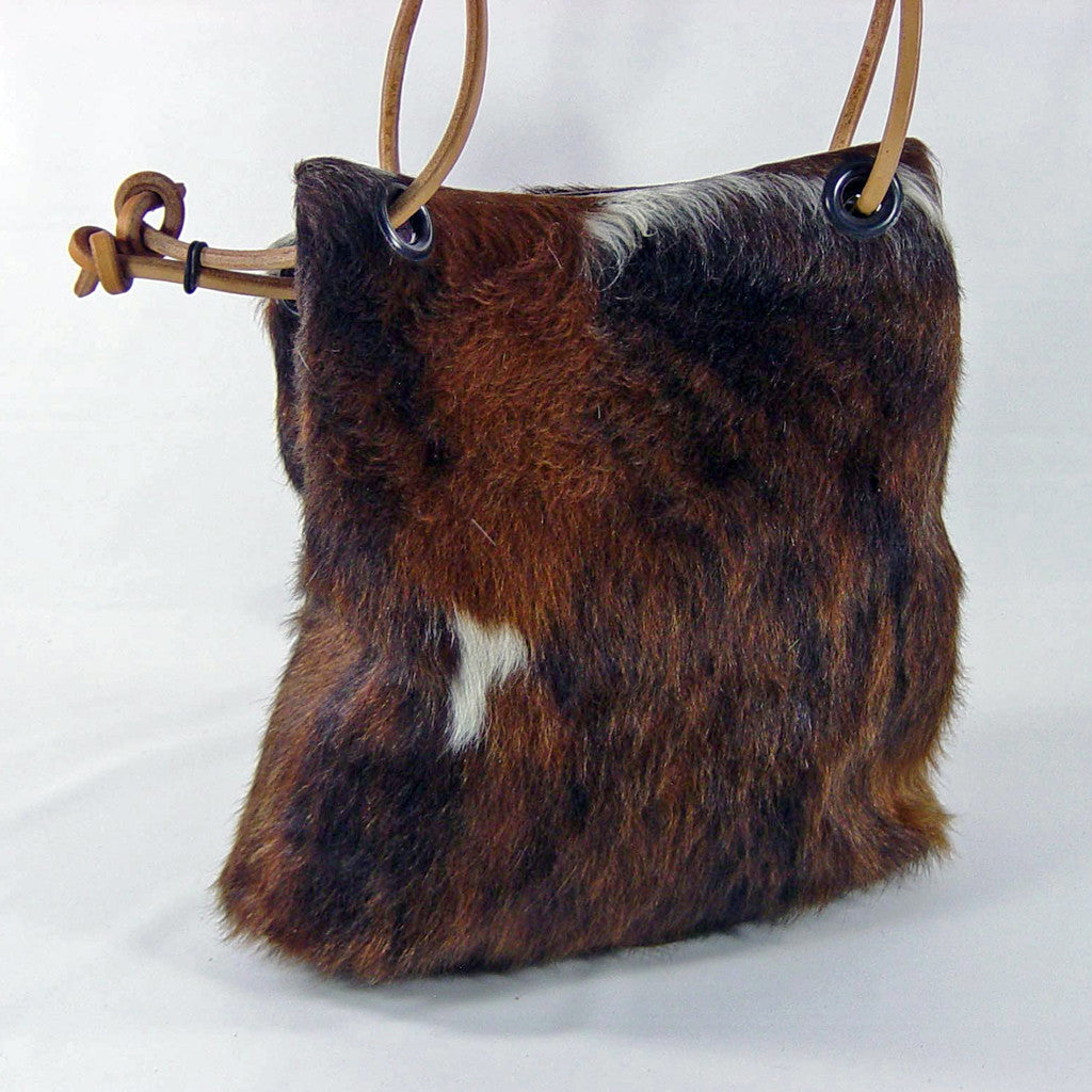 Bucket Bag Brown cowhide with hair left on