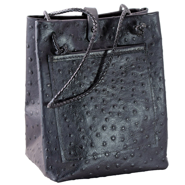 "Sack ""Ostrich"" embossed leather"