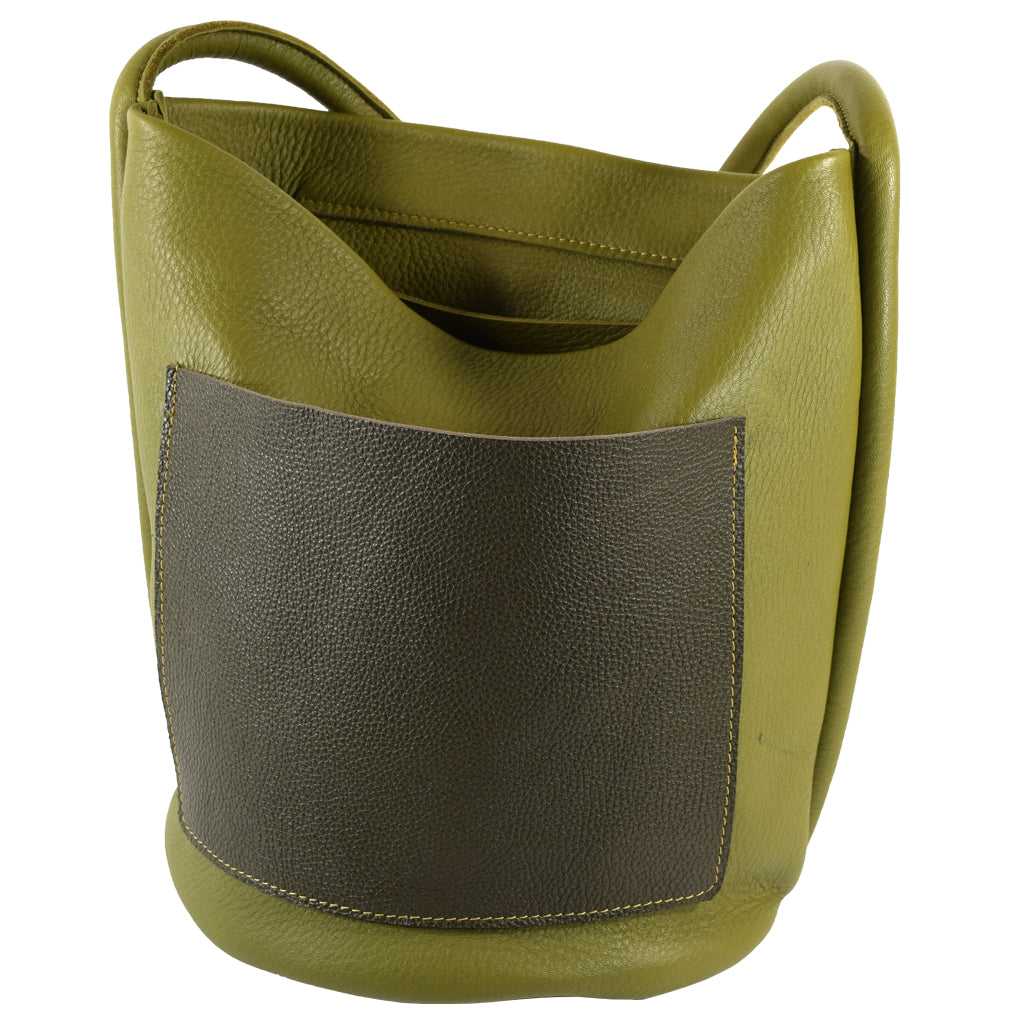 Bucket Bag Two Tone green