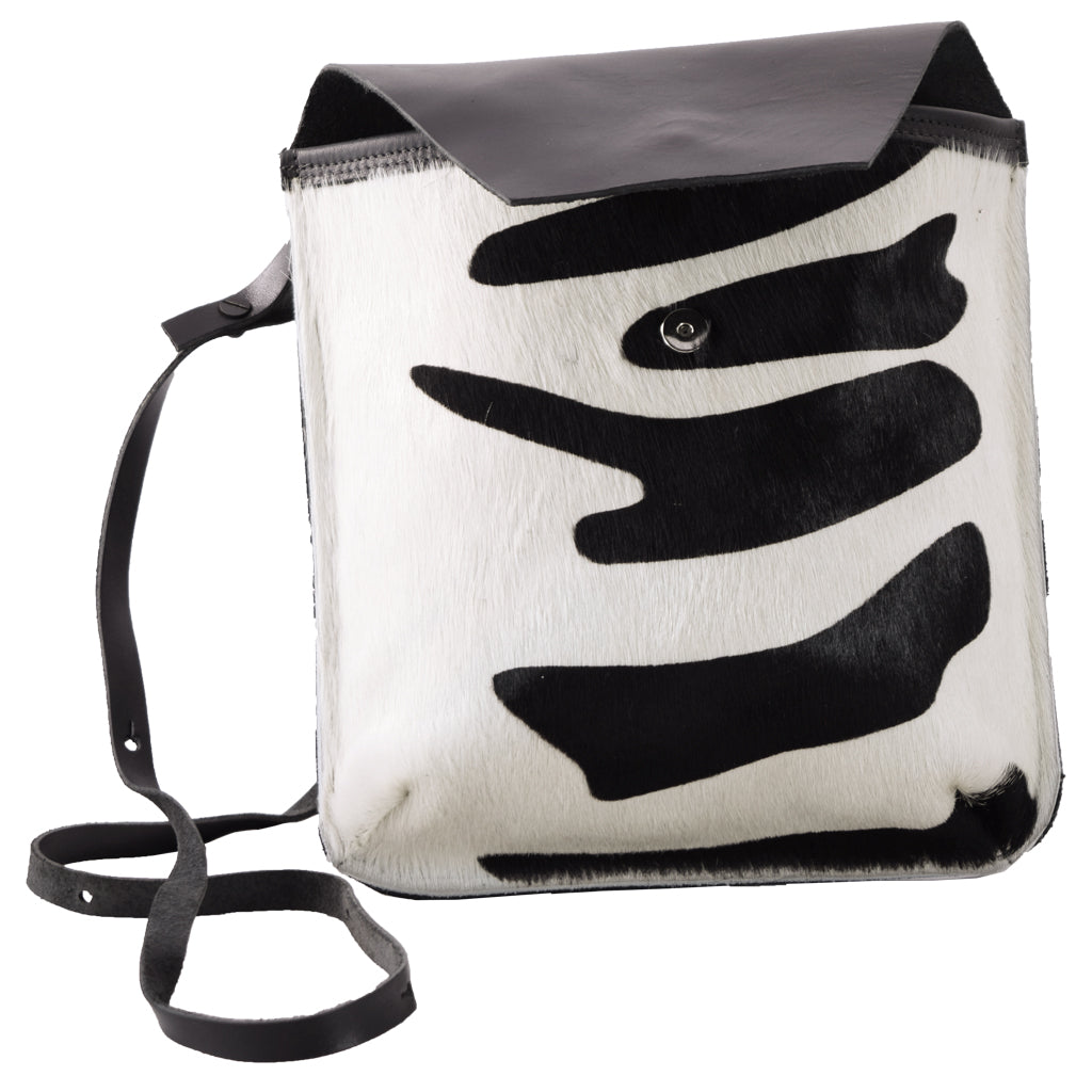 "Flap Bag ""Zebra"" hair-on (B)"