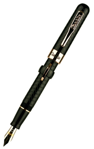 Conklin Mark Twain Crescent Filler Black Chase Fountain Pen CK71135