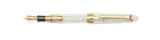 Sailor 1911 Standard Collection Demonstrator Fountain Pen with a Gold Trim and 14k nib horizontal 11-1223