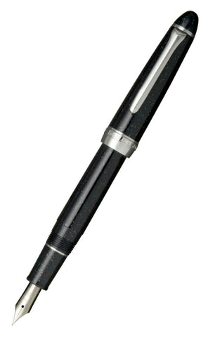 "Sailor ProColour 500 Black Hoshikuzu ""Stardust"" Fountain Pen with a Silver Colour Trim and steel nib 11-0500-249"