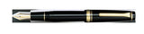 Sailor Professional Gear Black Fountain Pen with Gold Accents and 21k nib horizontal 11-2036