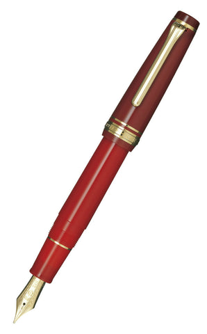 Sailor Professional Gear Kanreki Red Fountain Pen with Rose Gold Accents and 21k nib 10-3360