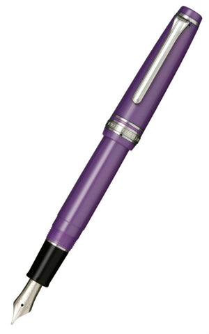 Sailor Professional Gear Sapporo (Slim) Metallic Violet Fountain Pen with Silver Trim with 14k nib 11-1222