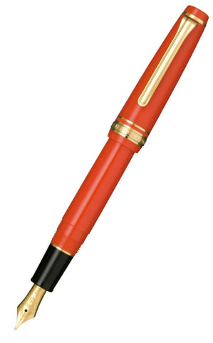 Sailor Professional Gear Sapporo (Slim) Red Fountain Pen with Gold Trim and 14k nib 11-1221