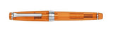 Sailor Professional Gear (Slim) Transparent Orange Fountain Pen with a Silver Trim & Rhodium Nib and 14k nib horizontal 11-9047