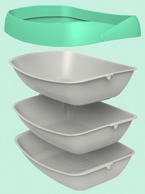 Luuup 3 sifting tray litter system