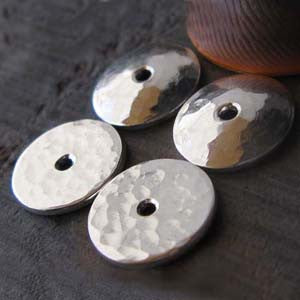 Handmade Bead Caps 10mm Hammered Quality Ends Callie