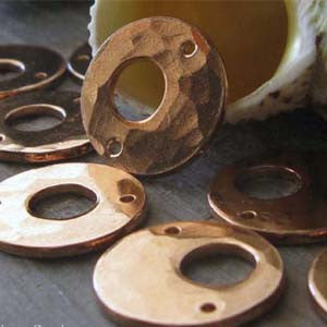 Copper Jewelry Making Supplies Disc Components Adriano