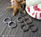 Double Ring Connector Handmade Jewelry Making Supplies Ambrosia