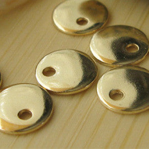 Sterling SIlver Tiny Dot Discs Handmade Jewelry Findings