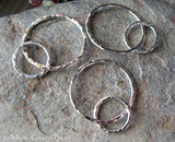 Hammered Interlocking Rings Components for Jewlery Making  Anastasia