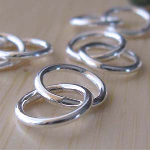 Interlocking rings handmade jewelry findings