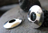 Large Hole Bead Cap Sterling Silver Handmade Jewelry Findings Prudence