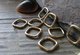 Square Jewelry Findings. Sterling SIlver or Gold Filled Links Amarandos
