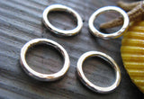 Hammered Rings for Jewelry Making Sterling Silver and Gold