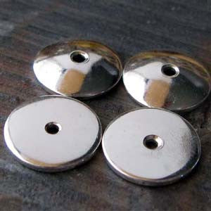 Thick 10mm Sterling Silver Bead Caps Handmade Findings Kari