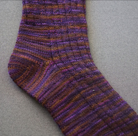 Hand-cranked wool boot socks