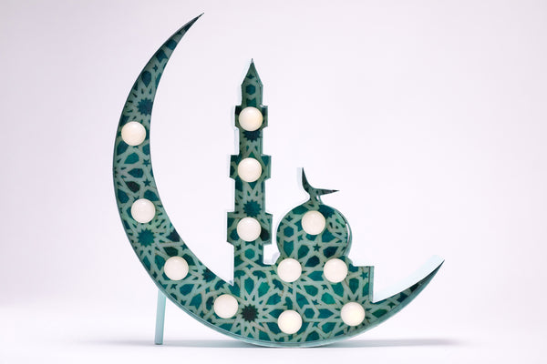 Mosque Silhouette Marquee (Islamic Green)