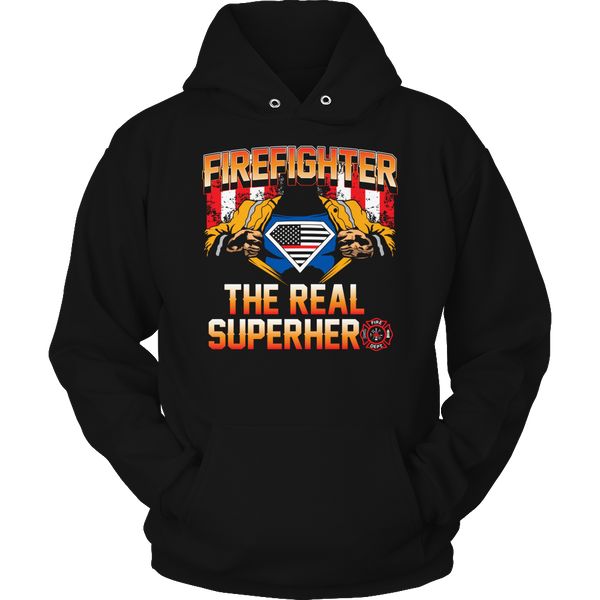 Limited Edition T-shirt Hoodie Tank Top - Firefighter The Real Superhero - Hoodie / Black / S - My Revolutional Shop - 4
