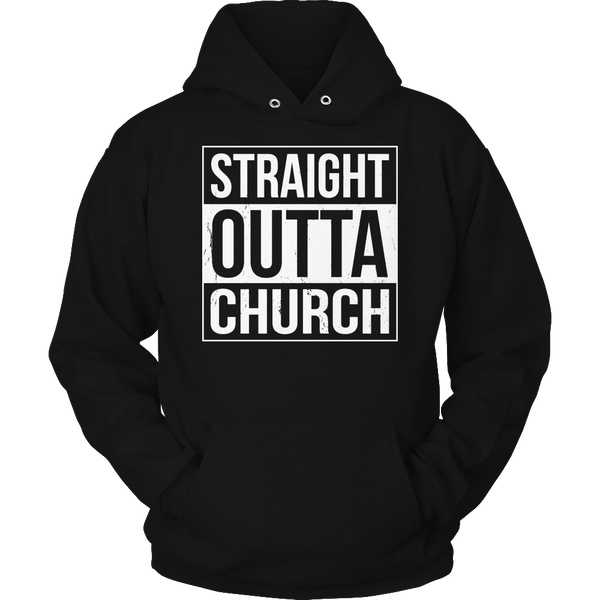 Limited Edition T-shirt Hoodie Tank Top - Straight Outta Church - Hoodie / Black / S - My Revolutional Shop - 4