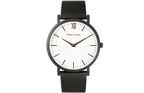 William Strouch Black Chain Metal & White Watch -  - My Revolutional Shop - 2
