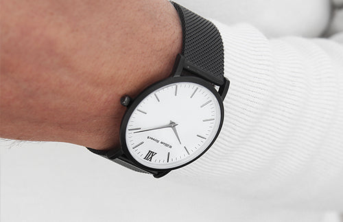 William Strouch Black Chain Metal & White Watch -  - My Revolutional Shop - 4