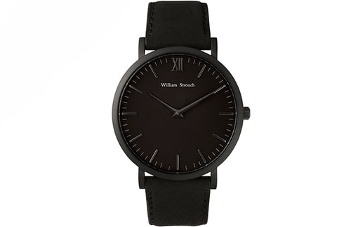 Accessories - William Strouch Black On Black Watch