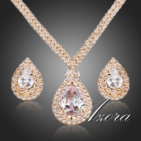 Jewelry Set, 18K Gold Plated Azora CZ -  - My Revolutional Shop - 1