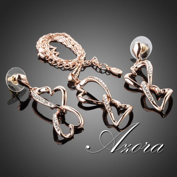 Jewelry Set, 18K Gold Plated Azora Double Hearts -  - My Revolutional Shop - 3