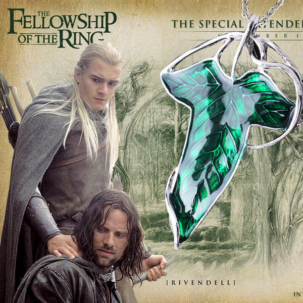 Lord of the Rings Elven Leaf Pendant / Brooch -  - My Revolutional Shop - 2