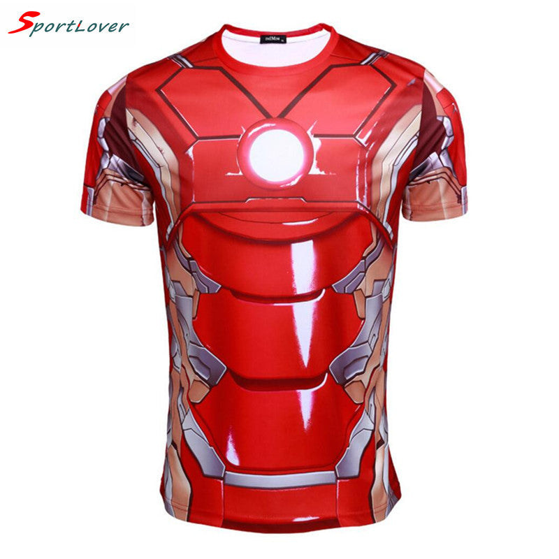 Iron Man Performance Compression Wicking Tee - Asian size M / Red - My Revolutional Shop - 1