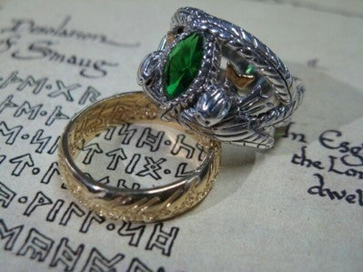 Lord of the Rings Aragorn's Ring of Barahir, .925 Sterling Silver
